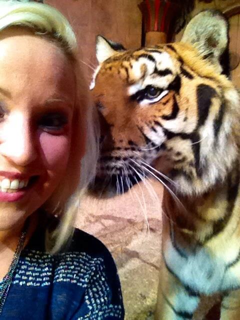 With Robbie the Tiger